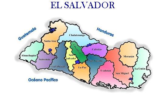 Mapa De El Salvador Mapa Salvadoreo Mapa De La Repblica De