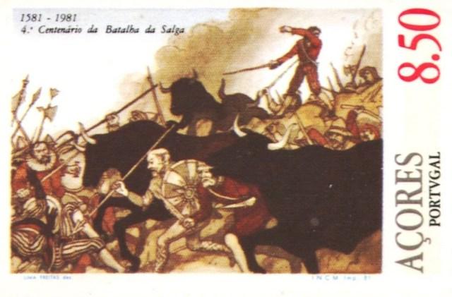 sello portugués alusivo a la batalla